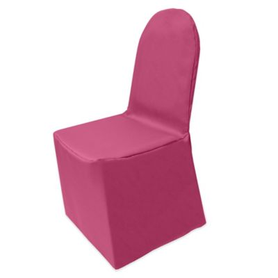hot pink chair wine barrel adirondack chairs buy cover bed bath beyond basic polyester for banquet in