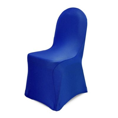 fitted chair covers for cheap fosner high back buy blue bed bath beyond pizzazz banquet cover in royal