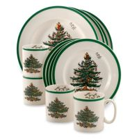 Buy Spode Christmas Tree 12-Piece Dinnerware Set from Bed ...