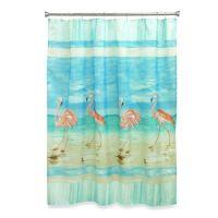 Flamingo Beach Shower Curtain - Bed Bath & Beyond