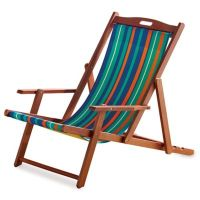 Resort Striped Folding Wood Beach Chair - Bed Bath & Beyond