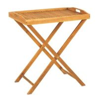 Westerly Acacia Wood Butler Tray with Stand - Bed Bath ...