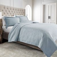 Buy Wamsutta Serenity Twin Coverlet in Silver from Bed
