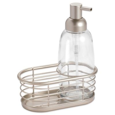 kitchen soap caddy stone island buy bed bath beyond interdesign forma dish pump in satin