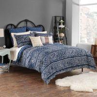 Steve Madden Lani Reversible Comforter Set in Indigo