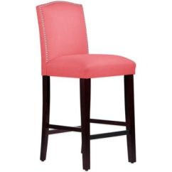 Kitchen Bar Chairs Blue Backsplash Tile Buy Padded Stools Bed Bath And Beyond Canada Skyline Furniture Roselyn Nail Button Arched Stool In Linen Coral