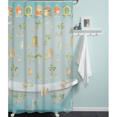 PEVA Cabana Beach Shower Curtain Bed Bath Amp Beyond