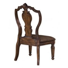 Leather Kitchen Chairs West Elm Rocking Chair Buy Bed Bath Beyond Pulaski San Mateo Carved Back Side In Brown
