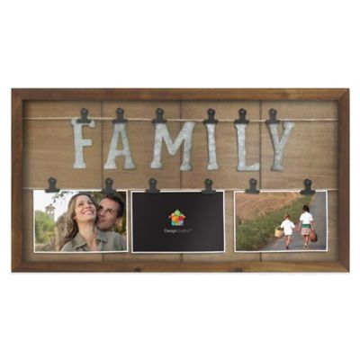 Marrone 3 Photo Family Clip Collage Bed Bath Amp Beyond
