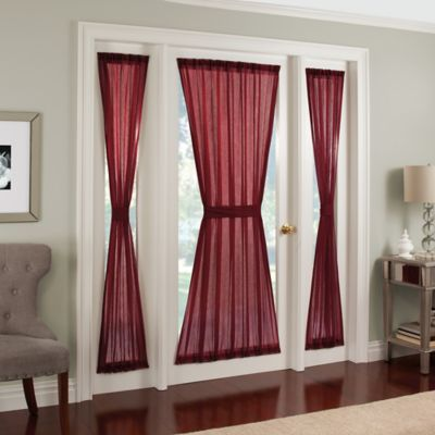 Crushed Voile Rod Pocket Side Light Window Curtain Panel Bed Bath Amp Beyond