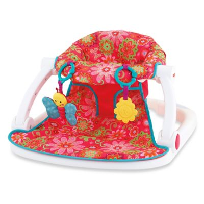 baby chairs to help sit up zebra office chair fisher-price® sit-me-up floor seat in pink flower - bed bath & beyond