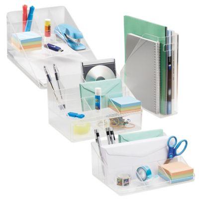 InterDesign Linus Clear Desk Organizer Collection  Bed