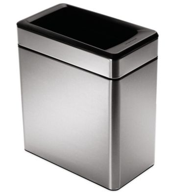 simplehuman kitchen trash can island with bar stools buy cans bed bath beyond 10 liter profile open stainless steel