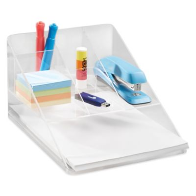 Buy InterDesign Linus Clear Desk Organizer from Bed Bath