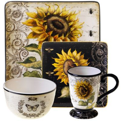 Certified International French Sunflower Dinnerware