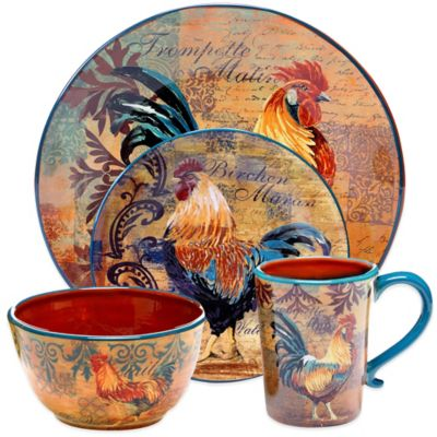 brand new kitchen cost green paint colors for certified international rustic rooster dinnerware ...