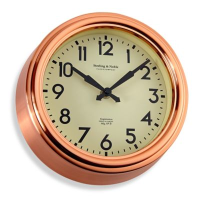 Small Copper Kitchen Wall Clock  Bed Bath  Beyond