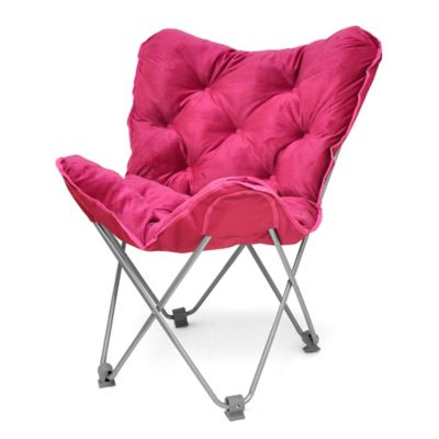 Tufted Folding Butterfly Chair  BedBathandBeyondcom