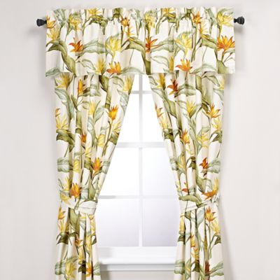 kitchen window valance ideas fabric for curtains tommy bahama® birds of paradise curtain panel and ...