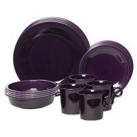 Fiesta 16-Piece Dinnerware Set in Plum - Bed Bath & Beyond