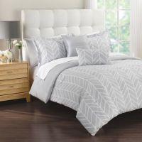 Lauren 5-Piece Comforter Set in Grey - Bed Bath & Beyond