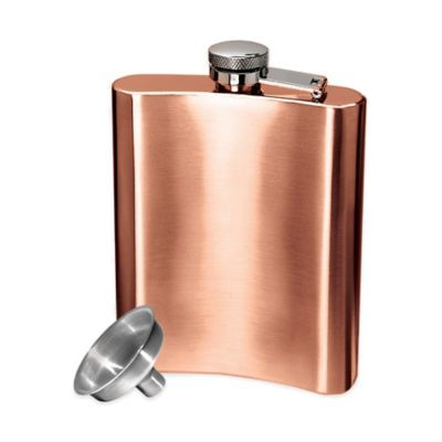 Buy Oggi CopperPlated Stainless Steel Hip Flask with