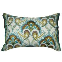 Buy Kas Australia Pushkar Oblong Throw Pillow in Teal from