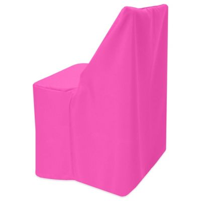 neon pink chair green adirondack chairs buy cover bed bath beyond basic polyester for wood folding in