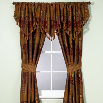 Croscill Galleria Window Curtain Panel and Valance  Bed