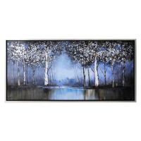Cobalt Tree Hand-Painted Canvas Wall Art - Bed Bath & Beyond