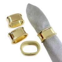 Buy Gold Napkins Rings from Bed Bath & Beyond