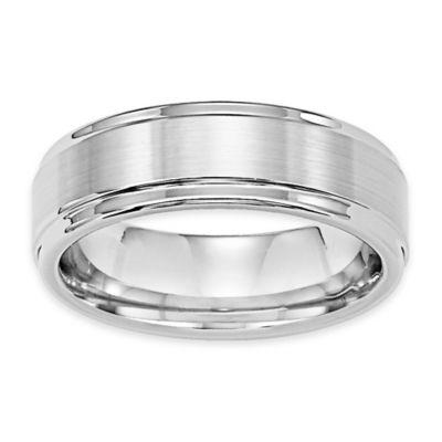 Buy Triton White Tungsten Carbide Satin Finish Size 9 Men