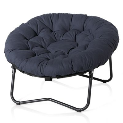 Foldable Oversized Papasan Chair in Indigo  Bed Bath  Beyond