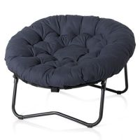 Foldable Oversized Papasan Chair in Indigo - Bed Bath & Beyond