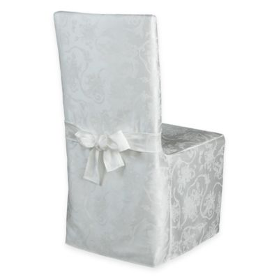 christmas chair covers white aluminum folding lawn chairs walmart buy bed bath beyond ribbons dining room cover in ruby