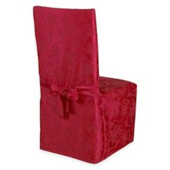 Dining Chair Covers Christmas Bathroom Safety Shower Tub Bench With Back Ribbons Room - Bed Bath & Beyond