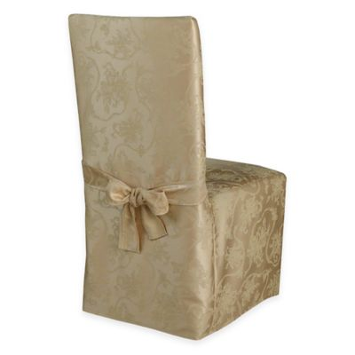 metal chair covers drop leaf table and chairs argos buy bed bath beyond christmas ribbons dining room cover in ruby