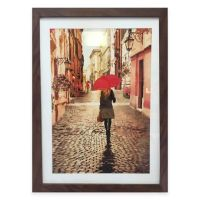 Girl with Red Umbrella Framed Wall Art - Bed Bath & Beyond