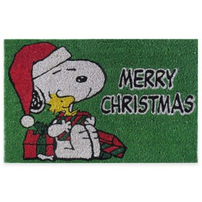 Peanuts Snoopy Merry Christmas 18 Inch X 28 Inch Door