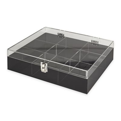 Buy Acrylic 9Section Etched Desk Organizer in Smoke Grey