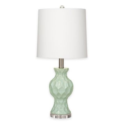Buy Bassett Mirror Company Staley Table Lamp in Aqua Blue