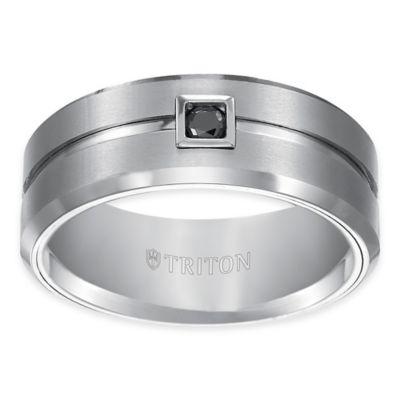 Buy Triton White Tungsten Carbide 10 Cttw Black Diamond