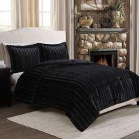 Buy Sable Fancy Fur Reversible Full/Queen Comforter Set in ...