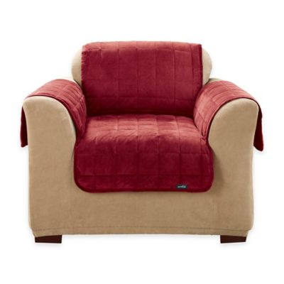 quilted microsuede sofa cover leather corner recliner buy chair pet covers from bed bath & beyond