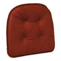 Buy Klear Vu Tufted Cross-Hatch Gripper Chair Pad in Red ...