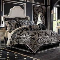 J. Queen New York Portofino Comforter Set in Black - Bed ...