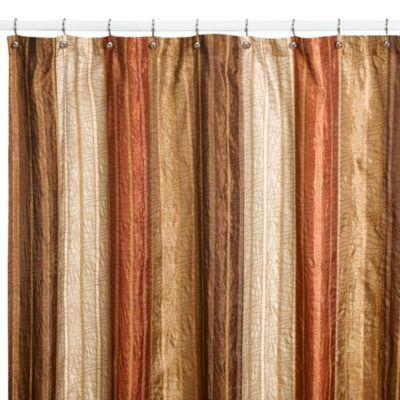 Manor Hill Sierra Copper Fabric Shower Curtain  www