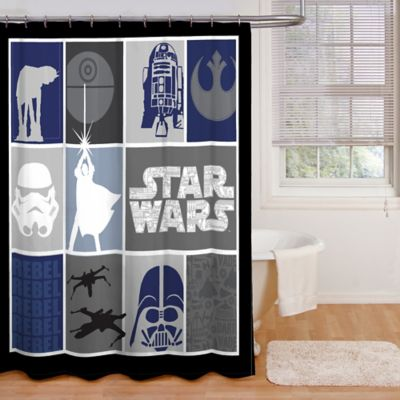 Star Wars Microfiber Shower Curtain  Bed Bath  Beyond