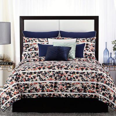 Buy Vince Camuto Messina Full Queen Comforter Set In Navy