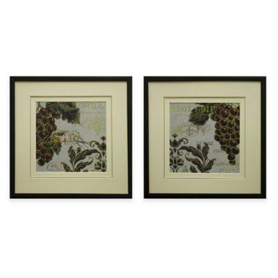 Burgundy Framed Wall Art